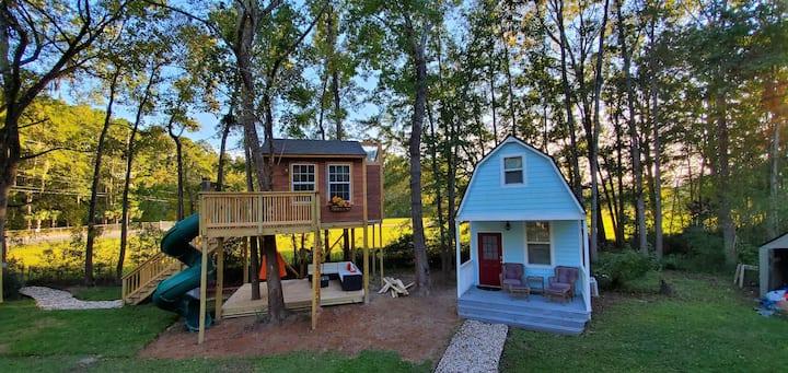 DOUBLE DOWN unique spaces- Tree House & Tiny House