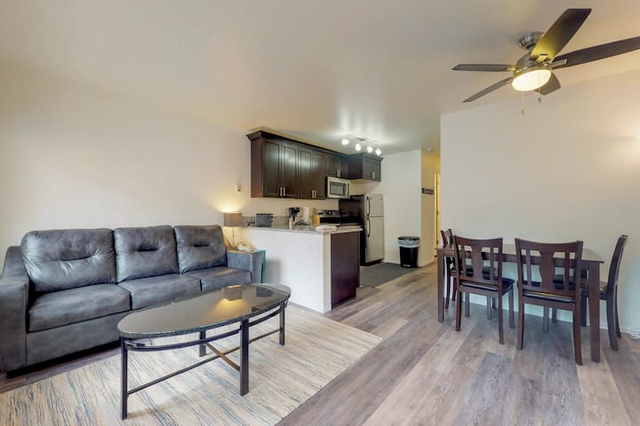 Dog-friendly condo with ski-in/out access, shared hot tub, & sauna