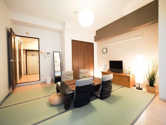 LIVELY NEIGHBORHOOD, DOTONBORI OSAKA NAMBA WiFi 21 - Chūō-ku, Ōsaka-shi - Apartment