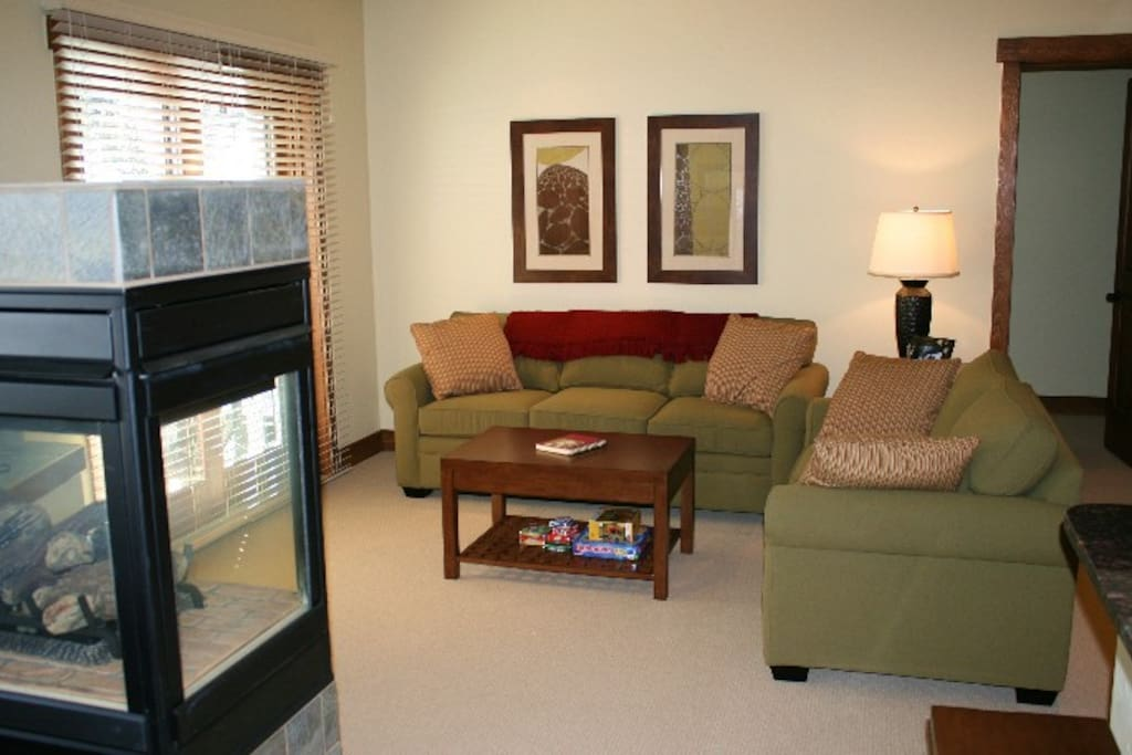 Living area at Cache at union Creek