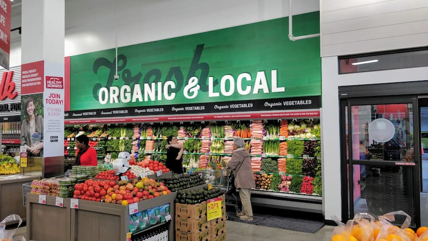 Organic Supermarket is only a 5 minute walk from apartment