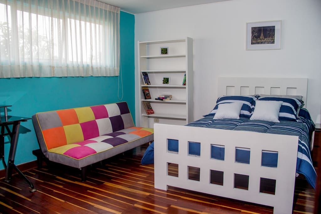Confy double bed + 1  sofa-bed, 3 person for one room