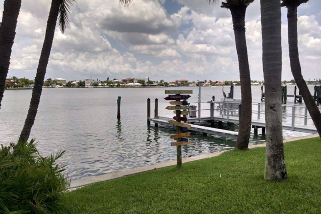 View of Boat dock from patio