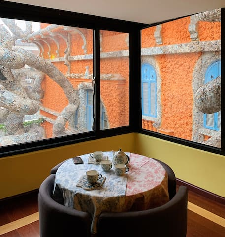 【所愿•瓷房子大床房】天津市区宝藏百年独栋5居洋楼民宿|近五大道瓷房子