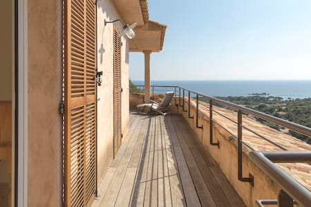 2 rooms villa view Palombaggia & wide terrasse - Vila