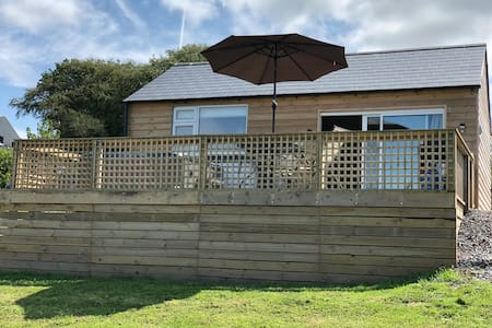 Private luxury cabin with hot tub, Carmarthenshire