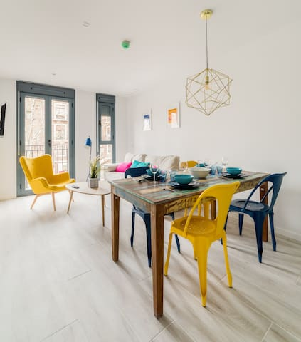 Chic and Bright 1 bedroom apartment in MadridMT