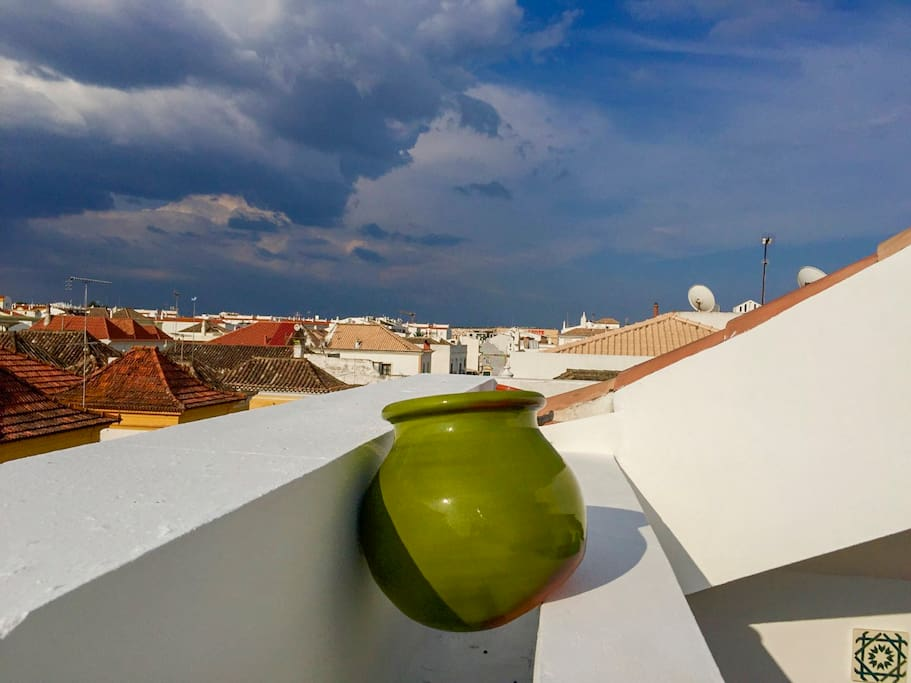 A View from the roof terrace