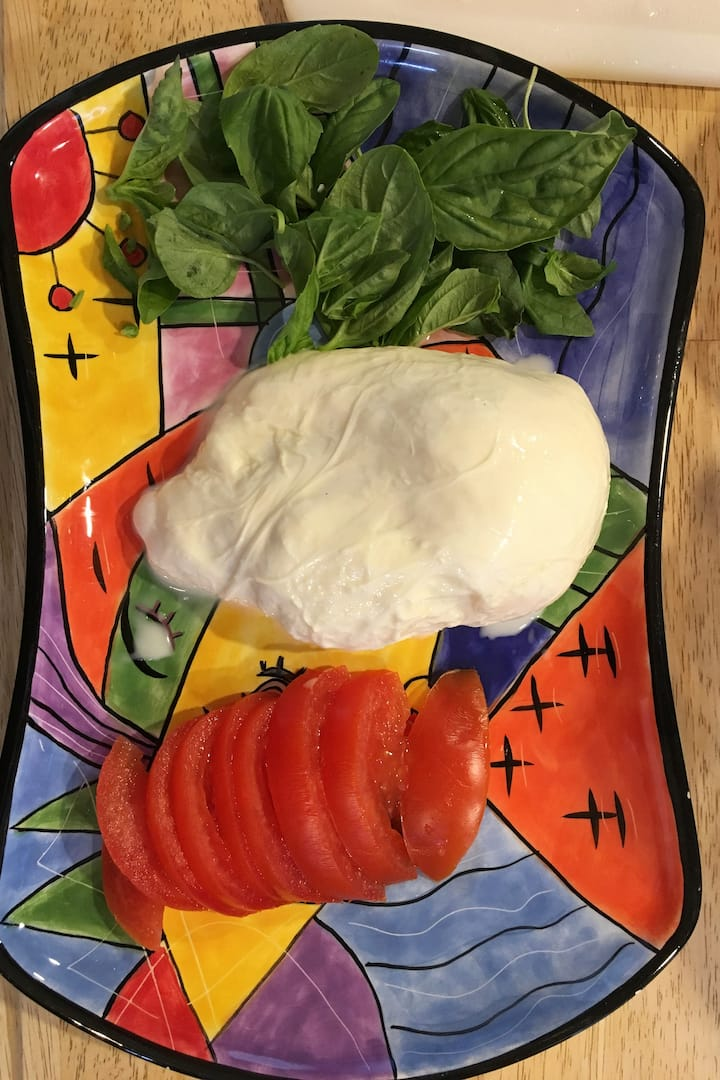 Goat mozzarella - for caprese  plate.
