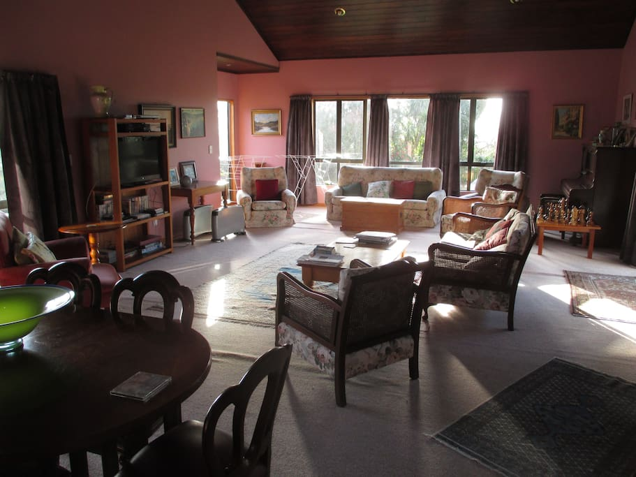 Large lounge, TV with tea & coffee available