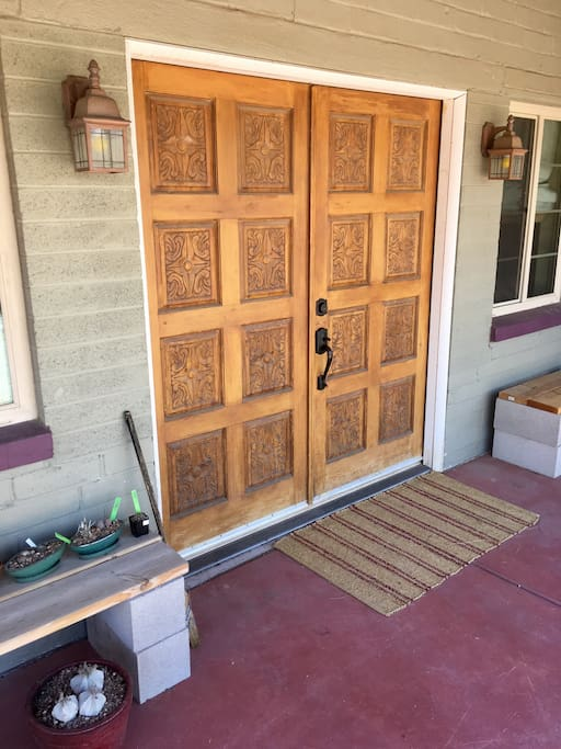 large double entrance doors