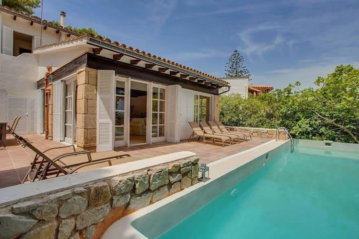 Posh Holiday Home in Font de sa Sala with Pvt. Pool & Sea Views