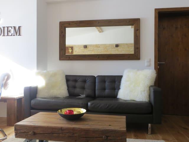 Wunderschöne Wohnung für 2 mit tollem Bergpanorama - Marktschellenberg - Daire