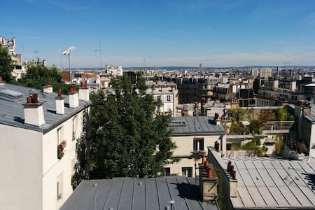 F1 in the heart of Montmartre-view Paris Rooftops