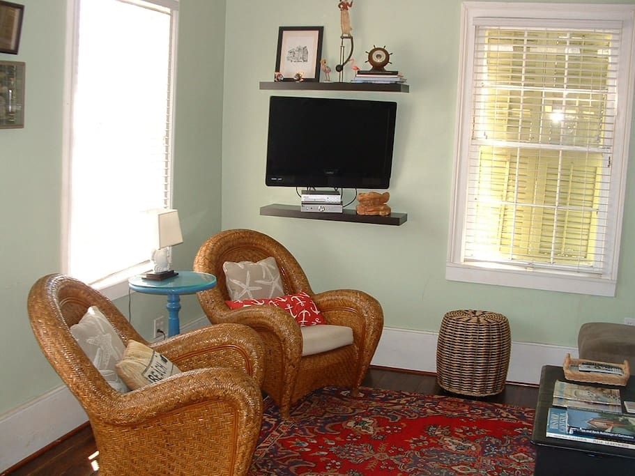 Living room, large comfortable chairs