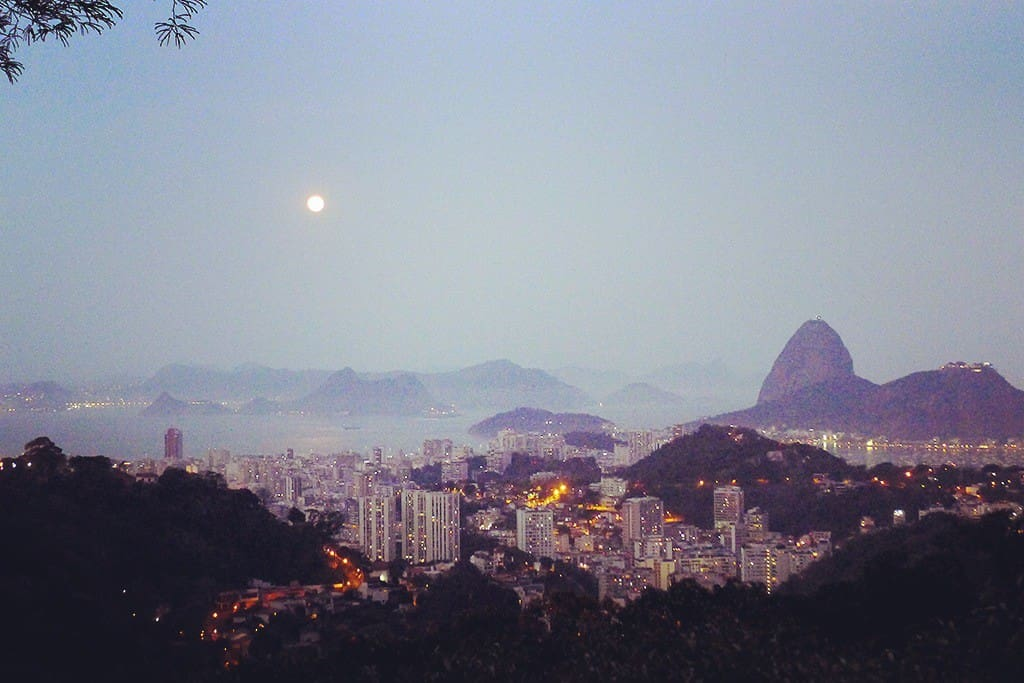 Full moon rising over Rio!