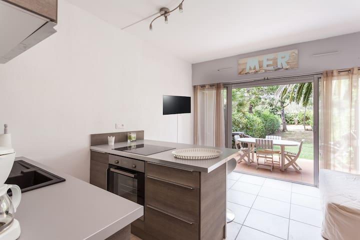 Appartement avec jardin et piscine - Agde