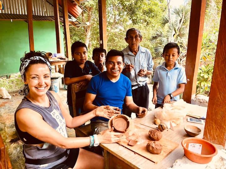 Ancient Mayan Ceramic Workshop,  lodging & meals