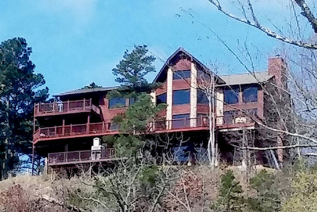 Back of lodge overlooking the river