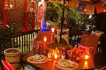 Garden dining area