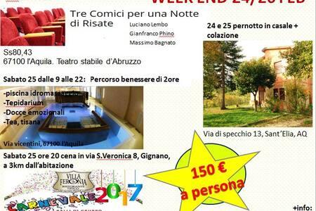 week end organizzato 24/26 febbraio - L'Aquila