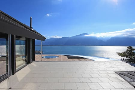 Unique villa overlooking the lake and the Alps - Montreux