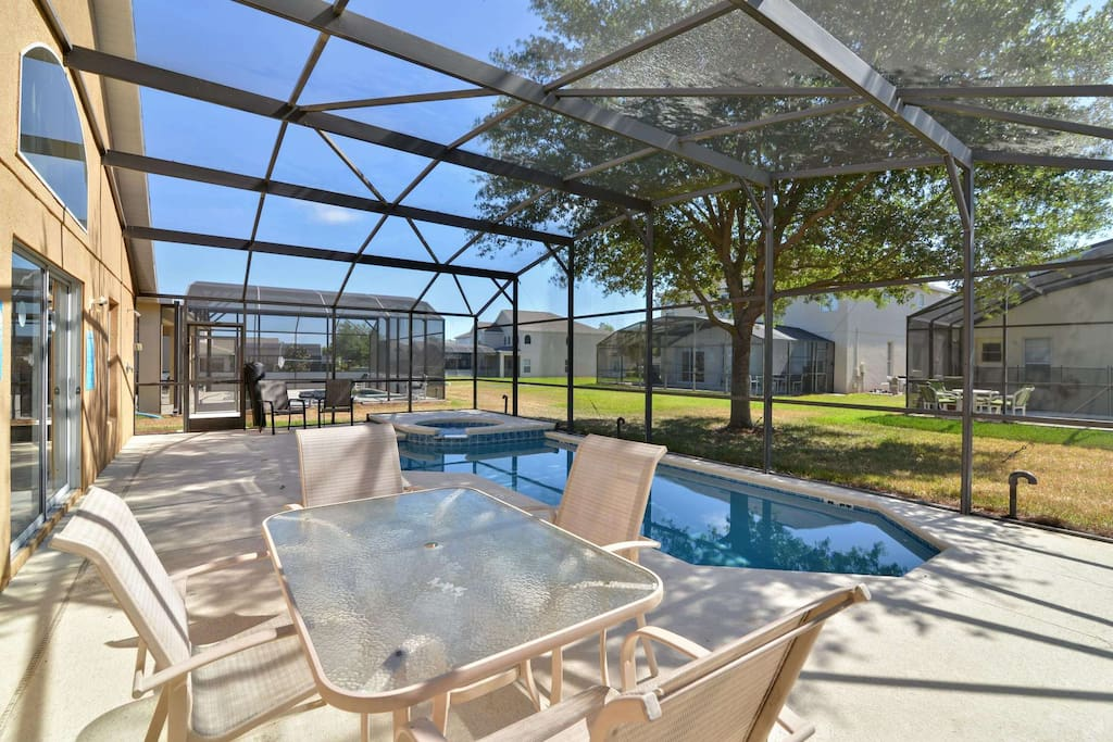 This private paradise is perfect for some fun in the sun.  Enjoy the sparkling pool with bubbling spa surrounded by the large sun-drenched deck.