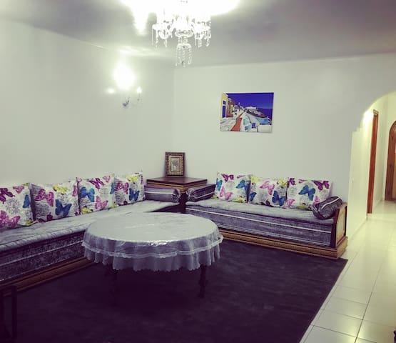 Appartement au RDC et Front mer