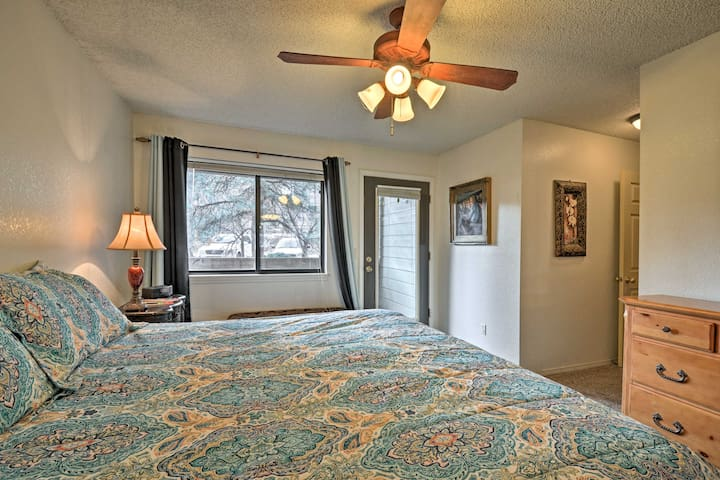 The master bedroom features a private entrance to the balcony.