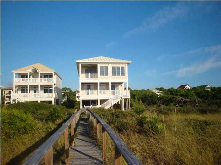 Island Home w/elevator beachfront sleeps 14