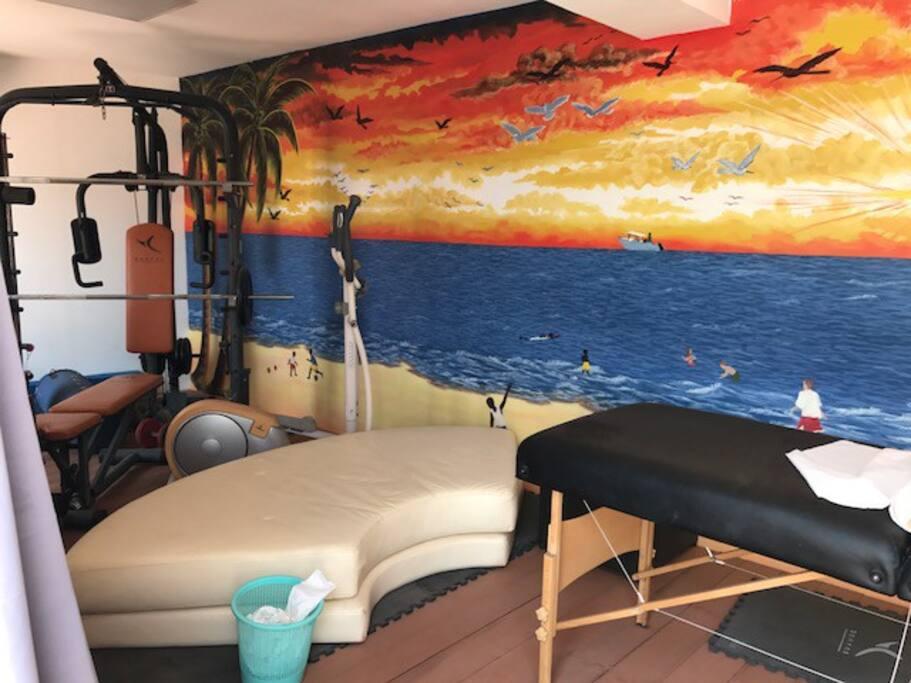 Salle de sport et massage