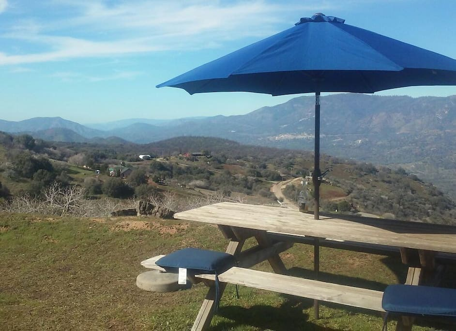We have amazing views with a place to relax with a cold drink under the shade.