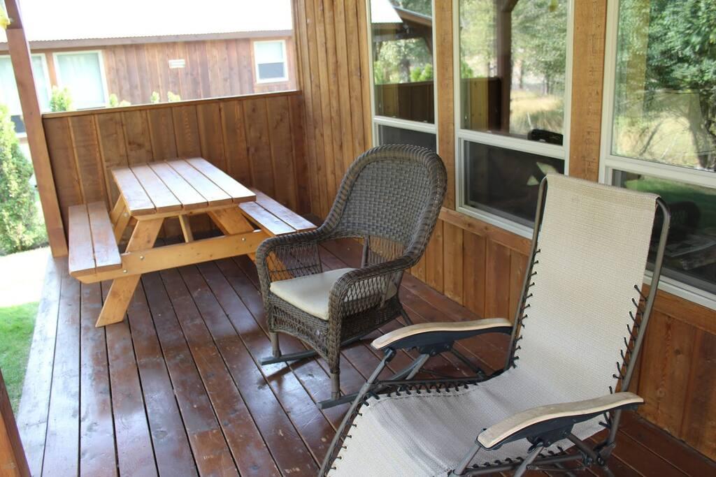 Back porch, a great picnic spot