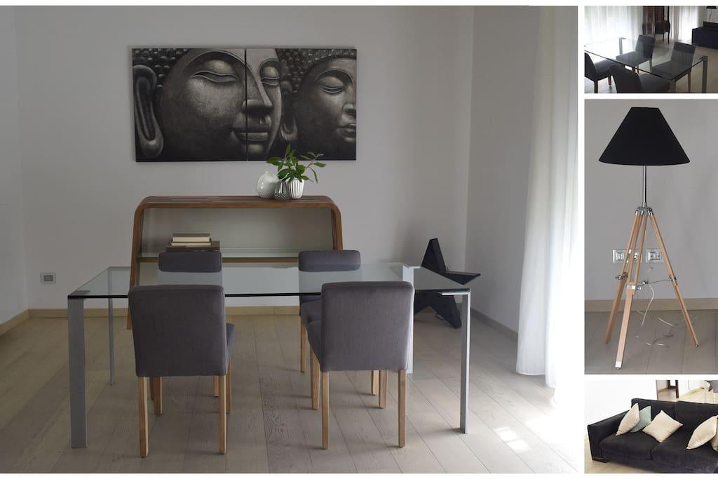 Living room,  sala da pranzo
