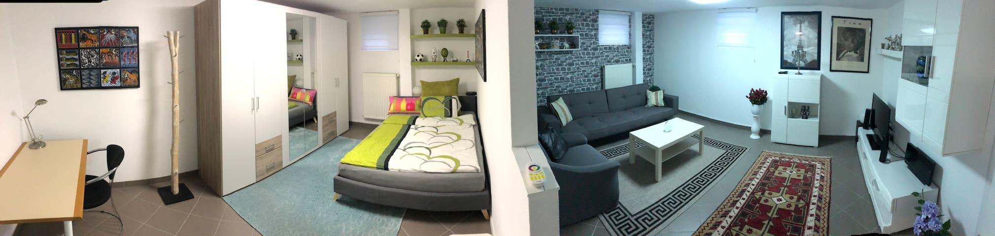 Panorama des Schlaf und Wohnbereiches