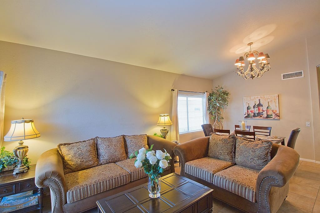 Formal living room and dining room area will greet you upon entrance to this beautiful home.