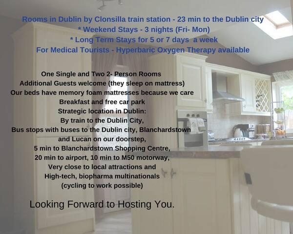 Blanchardstown 5pps 23min by train Dublin City