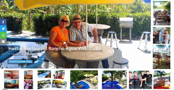 Hostal-Restaurante Rancho Agua viva. CUBA