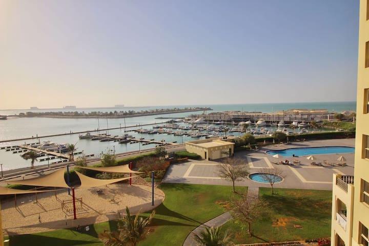 View on marina from balcony
