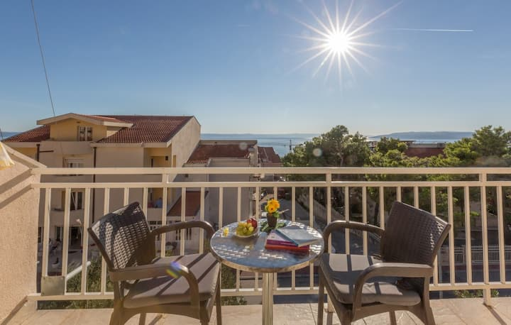 Makarska, studio apartman  sa pogledom more