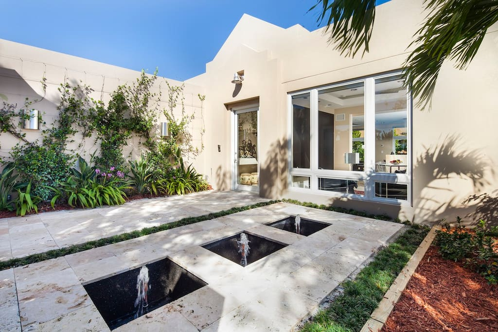 Front Courtyard with Fountains