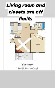 Quiet Room in Apartment