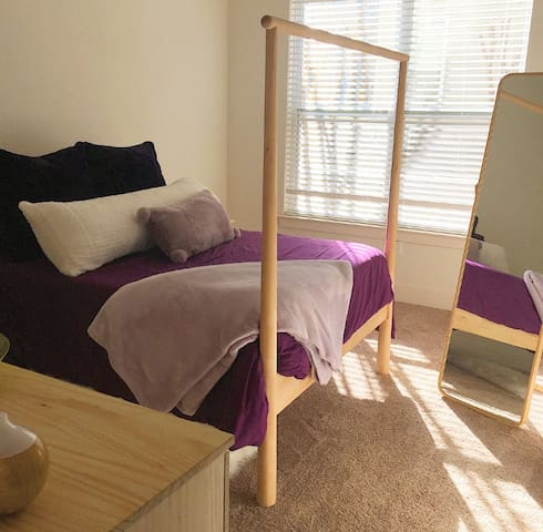 Bedroom area, full sized bed