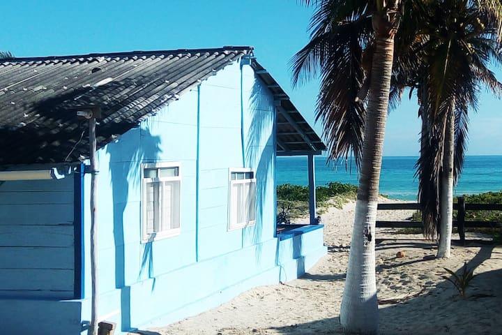 La Casita Azul, El Cuyo, Yucatán,  México.