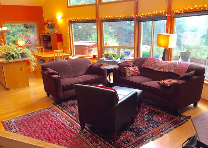Custom cedar home in the redwoods - McKinleyville - Casa