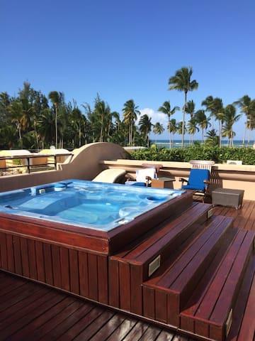 Appartement  penthouse + terrasse face à la mer