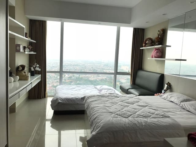2 Large Bed @U-Residence 2,Connecting to Supermall