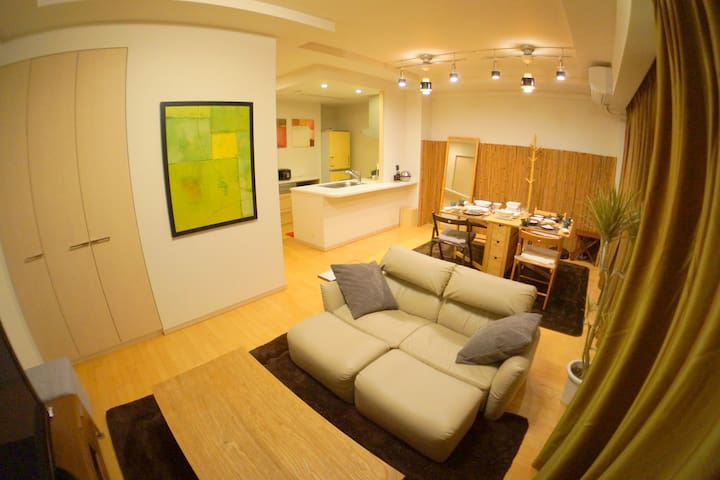 3min Namba 83㎡ 2bedroom FreeWiFi - Naniwa-ku - Apartment