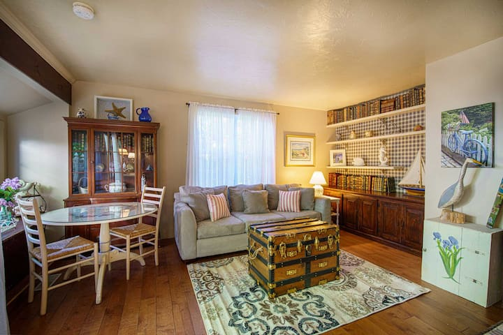 NEW LISTING! Walk to Beach & Main Street - 1BR Cottage at Captain Gosnold Village (16B)