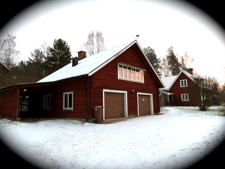 Nice & cozy house where you see the Orsa lake!